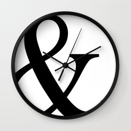 Typography, Ampersand, And Sign Wall Clock