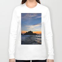 big sur Long Sleeve T-shirts featuring Big Sur sunset  by davehare