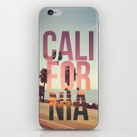 california iPhone & iPod Skins featuring CALIFORNIA by Kris James