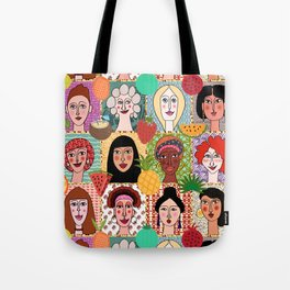 the colors of women Tote Bag