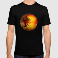 Visions of fire MEDIUM Black Mens Fitted Tee