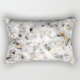 Classic Marble with Gold Specks Rectangular Pillow