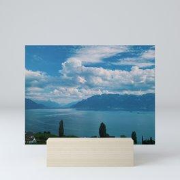 lake geneva, switzerland Mini Art Print