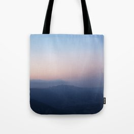 Blue Hills at Sunset Tote Bag