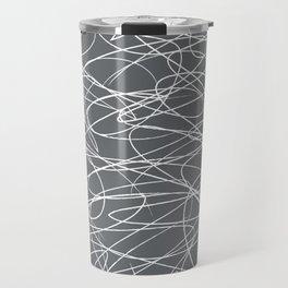 Hand Drawn Scribbles (Charcoal Grey) Travel Mug