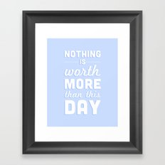 Nothing Framed Art Print