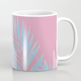 Palm Leaves Blue And Pink Coffee Mug