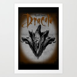 pop mash dracula Art Print