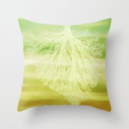 inhaling spring Throw Pillow