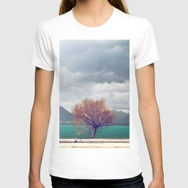 tree & lake view T-shirt