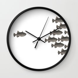 Bande de poissons ! Wall Clock