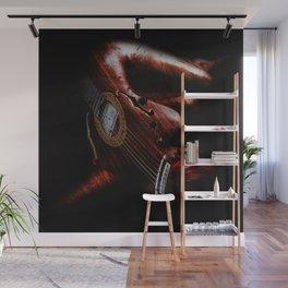 Guitar Woman Wall Mural