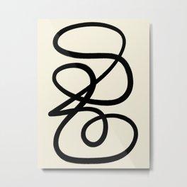 Modern Minimal Abstract #5 Metal Print