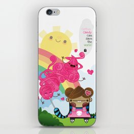 Cotton Candy can save the world!!! iPhone Skin