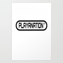 Reg PlayaNationMG BLK Art Print