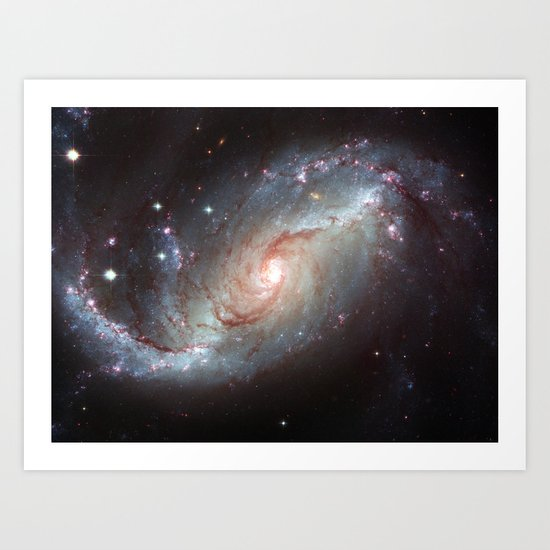 Barred spiral galaxy Art Print