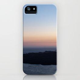 Santorini Volcano at Sunset iPhone Case