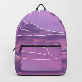 Purple Sunset View Backpack