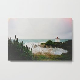 Film photo of the lighthouse at Bluff, NZ Metal Print