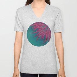 Agave psychedelic colors Unisex V-Neck
