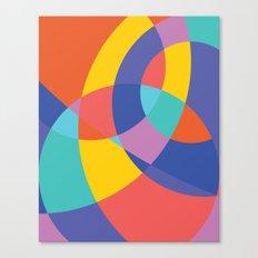 Geometric Beach Ball 1 Canvas Print