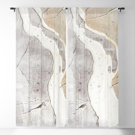 Feels: a neutral, textured, abstract piece in whites by Alyssa Hamilton Art Blackout Curtain