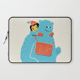 Blue-Monster Piggy-Ride Laptop Sleeve
