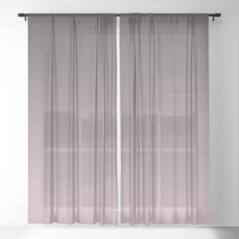 Black, pink - gray Ombre. Sheer Curtain