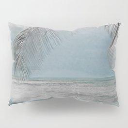 White Coconut Palm Tree Pillow Sham