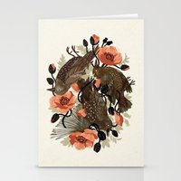 flower Stationery Cards featuring Spangled & Plumed by Teagan White