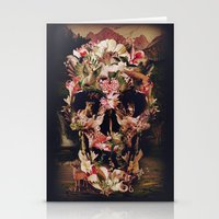 ali Stationery Cards featuring Jungle Skull by Ali GULEC