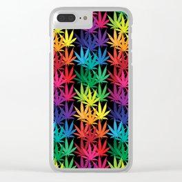 Cannabis Rainbow Clear iPhone Case