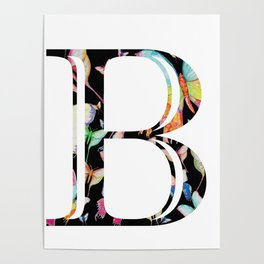 Butterfly Initial 'B' Poster