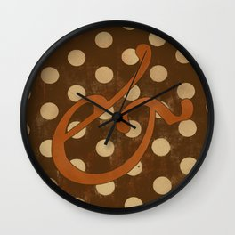 Garamond Italic Ampersand Wall Clock