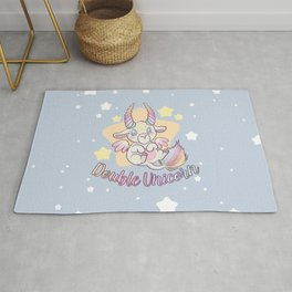 Double Unicorn Rug