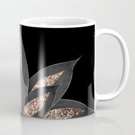 Gray Black Agave with Gold Glitter #1 #shiny #tropical #decor #art #society6 Coffee Mug