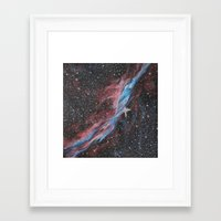 outer space Framed Art Prints featuring Outer Space by Studio 502