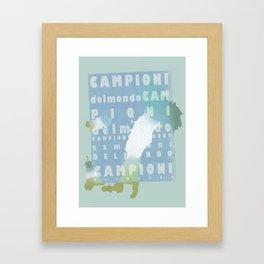 Campioni Del Mondo Framed Art Print