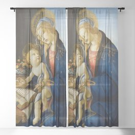 The Virgin and Child by Sandro Botticelli Sheer Curtain