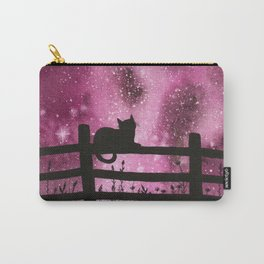 Night full of Sky Pink Watercolor Galaxy Painting Carry-All Pouch