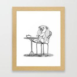 Nun pug Framed Art Print