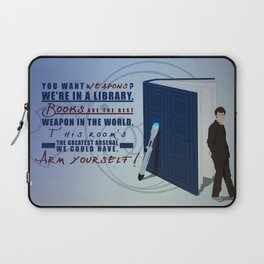 Books are the best weapon in the world Laptop Sleeve