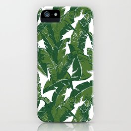 Leaves Bananique in White Shell iPhone Case