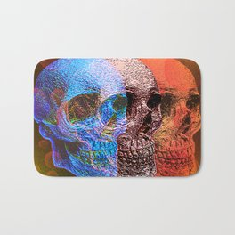 Psychodelic Pop art skulls Bath Mat