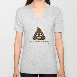 Ceci n'est pas une poop. Unisex V-Neck