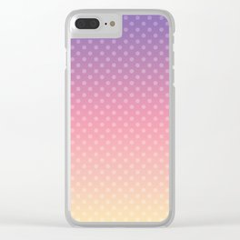 Lilac pink yellow Ombre . Clear iPhone Case