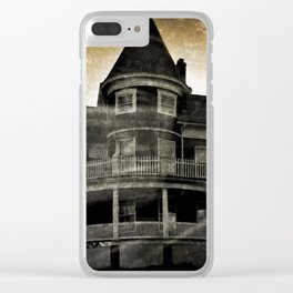 Haunted Hauntings Series - House Number 4 Clear iPhone Case