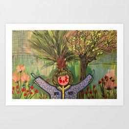 Girl by Wafaa Elgamel Art Print