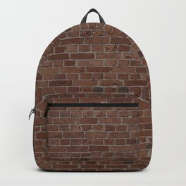 NYC Big Apple Manhattan City Brown Stone Brick Wall Backpack