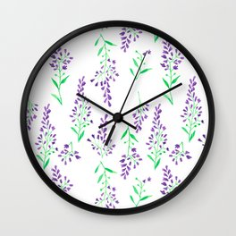 Purple Delphinium Wall Clock